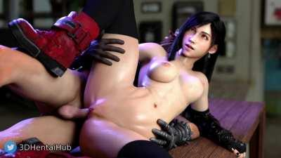 Read more about the article Tifa finally gets a good spooning (3DHentaiHub) [Final Fantasy 7 Remake] Nude tiktok